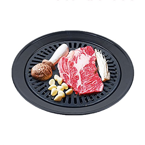 BBQ Pan, Faway Non-stick Healthy Gas Grill Pan Smokeless Barbecue Plate Outdoor Roasting Tool Maifanite Coating BBQ All Clad Calphalon