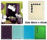 MEMO NOTICE BOARD METAL INC 6 MAGNETS SIMPLICITY MESSAGE 50 X 40cm CREAM