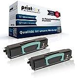 2x Kompatible Tonerkartuschen für Dell 1720 1720 dn 1720 n 1720 Series RP 380 59310239 RP380 593-10239 593-10240 GR 299 GR299 Schwarz Black - Office Print Serie