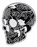 Aufnäher Bügelbild Aufbügler Iron on Patches Applikation Totenkopf Skull Biker Tattoo Rock