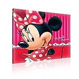 TapetoKids Leinwandbild Minnie Maus Porträt - S - 40 x 40 cm - Komplettpaket! - fertig gerahmt und inklusive Aufhängung - hochwertige 230g/m² Leinwand auf Keilrahmen - kinderleichte Anbringung
