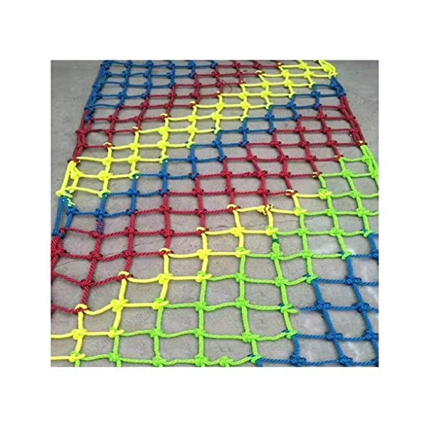 Rope Net Safe Net Child Safety Nets Protection Fence Climbing Rope Neting Truck Cargo Trailer Mesh For Kids Toys Pets Balcony Railings Stairs Protective Net Color Ssize: 1×4M (Size : 3 * 7M)  ✪ 【Material】: Polyester braided rope, hand-tightened, so that the mesh has greater tensile strength and strong impact resistance. Climbing Net. ✪ 【Three strands of rope】: Woven with three strands of rope, precision wiring, workmanship, high temperature baking, dyeing, anti-corrosion, waterproof, sunscreen, anti-reinforced braided rope is not easy to break, durable. Climbing Net. ✪ 【Hand-woven】: Lightweight child safety stair protection net, high-grade sturdy fabric, professional knotting, multi-strand weaving, make the rope more durable, has strong impact resistance, and protect children's safety. Climbing Net. 1