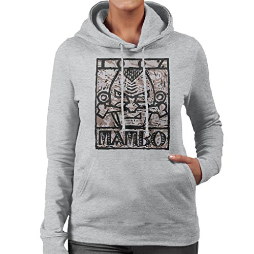 Mambo Nose Bone Alt Women's Hooded Sweatshirt Heather Grey