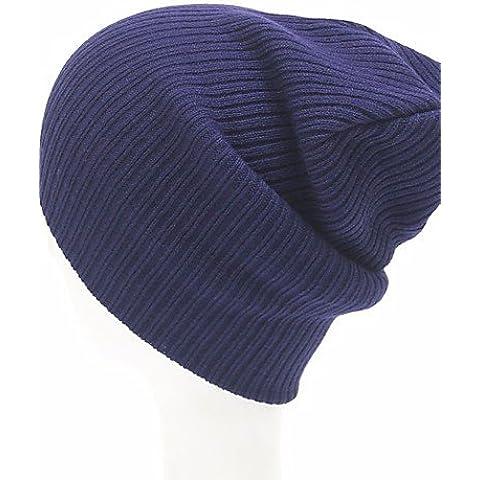 Las mujeres Beanie acrílico/SlouchyCasual Primavera / otoño / invierno,Azul marino,One-Size