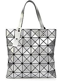 6d90ff57ebfc1 Laser 2017 Rhombus Falttasche Geometrisch Nähen Schultertasche Portable  Sorte Dame Tasche Mode Persönlichkeit Einfach…