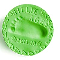 Winkey Toy for Baby kids Boy Girl, Baby Kids Toy Basic Learning Toddler Infant Child Developmental DIY Gift,Hand Die Hand Stamp Pad (green)