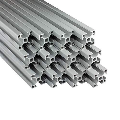 Alu Profil 12 Stück 30x30mm 2m System-, Montage-, Konstruktionsprofil Nut 8