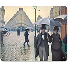 Gustave Caillebotte - Calle De Paris, Día De Lluvia, 1877 Alfombrilla Para Ratón (23 x 19cm)