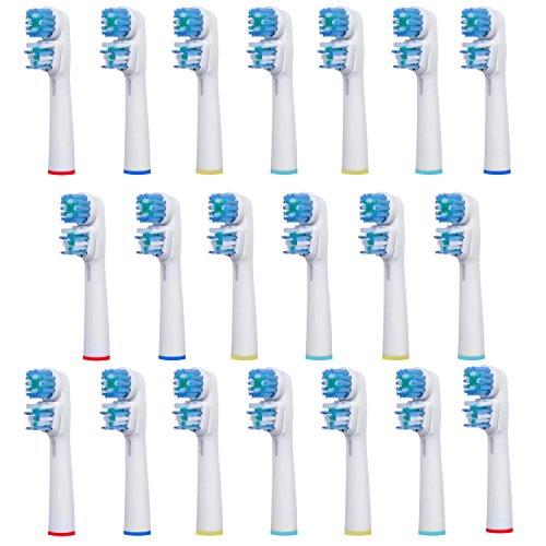 20 uds (5x4) de cabezales para cepillos de dientes E-Cron®. Oral B Dual Clean (EB417-4) recambios. Totalmente compatibles con los siguientes modelos de cepillos de dientes eléctricos Oral-B: Vitality Precision Clean, Vitality Floss Action, Vitality Sensitive, Vitality Pro White, Vitality Dual Clean, Vitality White and Clean, Professional Care, Triumph, Advance Power, TriZone y Smart Series.
