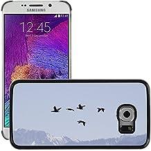 Grand Phone Cases Etui Housse Coque de Protection Cover Rigide pour // M00141681 Aves de Migración Fly Sky Montañas // Samsung Galaxy S6 EDGE (Not Fits S6)