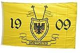 Flaggenfritze® Flagge Fanflagge Dortmund 1909 mit Wappen - 90 x 150 cm