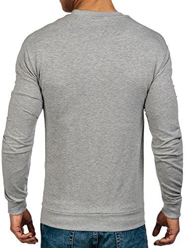 BOLF Herren Sweatshirt Langarmshirt Pullover Pulli Army Classic 1A1 Motiv Grau_0388