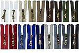 FIM SONDERLÄNGEN 61cm - 89cm Reißverschluss Metall Nr. 5 mittelgrob Brüniert Teilbar für Jacken, 1 - schwarz (322), 73cm