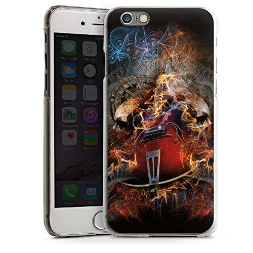 Apple iPhone 5s Housse Étui Protection Coque Guitare Tête de mort Crâne CasDur transparent