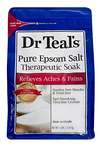 Dr Teal's Therapeutic Solutions Pure Epsom Salt Soaking Solution 6 Lb Bag...