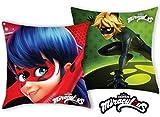 ZAG Miraculous Ladybug und Cat Noir - Kissenbezug - 40x40 cm - Tolle Geschenkidee für Kinder
