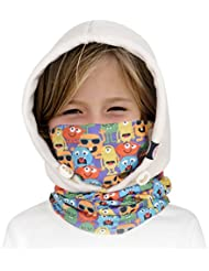 Kuyou enfants polaire Cagoule Kids Masque de ski chaud Bonnet d'hiver