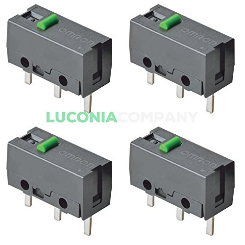 Preisvergleich Produktbild 4er Pack Omron Ultra SUBMINIATURE Basic Micro-Schalter d2fs-f-n gerade Pin Plunger PCB Terminals SPST Maus