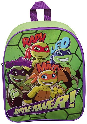 Children Kids Ninja Turtles Raph Donnie Mikey Rucksack School Bag Half Shell Heroes Backpack by Vinsani (Ninja Turtles Shell Backpack)