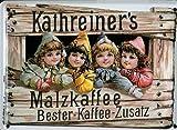 Retro Wandschild Designer Schild Kathreiners Malzkaffee Deko 8x11cm Nostalgie Metal Sign A032