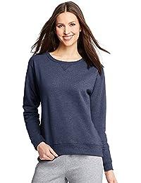 Hanes ComfortSoft EcoSmart Women's Crewneck Sweatshirt_Navy Heather_L