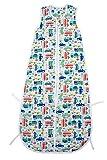 Schlummersack Bambus-Musselin Babyschlafsack für den Sommer 0.5 Tog - Autos - Jungen - 12-36 Monate/110 cm mitwachsend