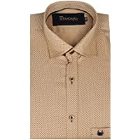 The Standard Men's Casual Wear, Dotted Mustard Shirt (SKU0002_38)