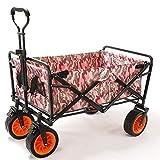 Zichen Carro de jardín plegable Carro de la compra en la playa/Almacenamiento masivo/Neumático de ensanchamiento + Freno/Carga: 80 Kg/camuflaje urbano (Color : Urban Camouflage)