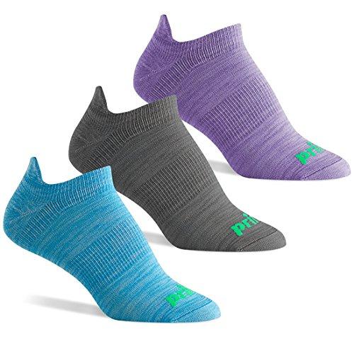 Prince Damen Tab Performance Athletic Socken mit Arch Unterstützung für Running, Tennis, und Casual Use, Damen, Blue/Charcoal/Purple (Socke Mizuno Performance)