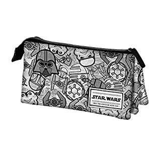 Karactermania Star Wars Pictogram Estuches, 24 cm, Gris