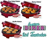 Melissa 16250072 3in1 Donut Muffin und Popcake-Maker 3 auswechselbare Backplatten