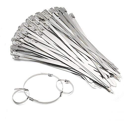 Vordas 100 Pieza Bridas Metalicas Cable Lazos, 4.6mm x 150mm