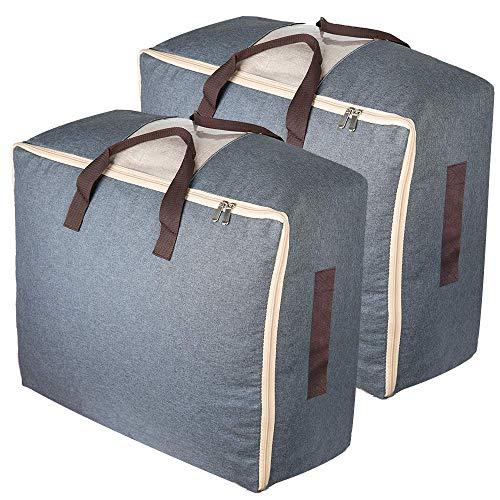 AufbewahrungTaschen Zips 53L Bettdecke Große Unterbett Kleidung bewegen Wäsche (Bettdecken Bett Creative)