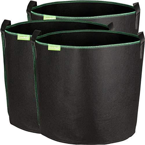 GardenMate 3X Sacchi per Piante di Tessuto Non Tessuto 60L - Greenline