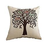 VLUNT Cojines respaldo Sofa, cojines lino duradero 45x45 cm, cojines decorativos con relleno incluido, Serie Patrones