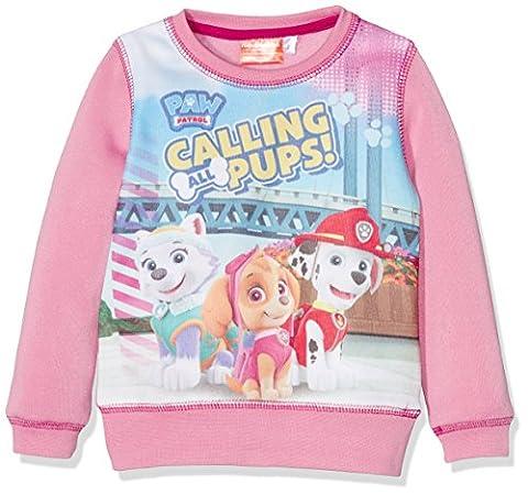 Nickelodeon Paw Patrol, Sweat-Shirt Fille, Rose, 3