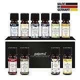 pajoma Premium Duftöl Set 10 Stück Bestseller Öle 10x10ml Made in Germany für Aromatherapie, Duftlampe oder Diffuser