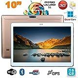 Tablette 10 pouces 3G Android 5.1 Lollipop Dual SIM Quad Core 16Go Or