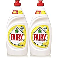 ‏‪Fairy Lemon Diswashing Liquid, 2 x 750 ml‬‏