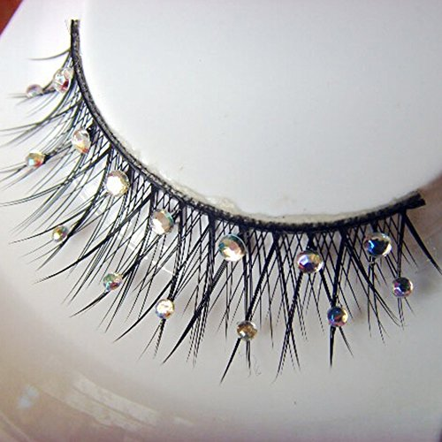 Spritech(TM) New Starlight Edition Style Rhinestone Premium Eyelashes for Parties Clubbing Festivals Holidays Bride Makeup Daily Use Sliver by Spritech -