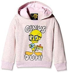 Tweety Girls Sweatshirt (TW1DHG1250_PINK GREY MELANGE_5/6)