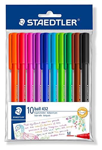 Staedtler 43235mpb10 penne a sfera colori assortiti, confezione da 10, multicolore