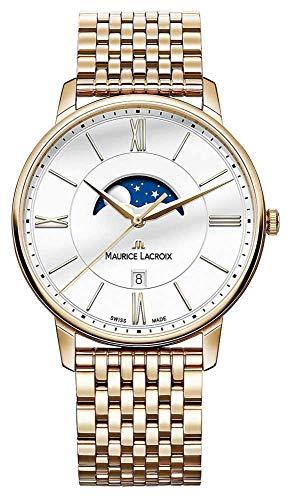 Maurice Lacroix EL1108-PVP06-112-1 - Orologio da polso Uomo, Acciaio inox, colore: Oro