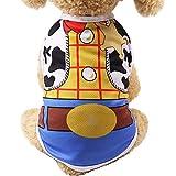 YWLINK Sommer-Haustier-Hundekleidung HüNdchen Cartoon Süß Drucken Katzenwesten-Shirt(Gelb,XS)