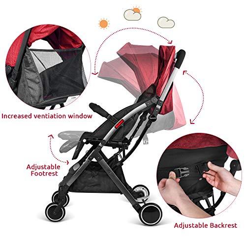 516NtMt04LL - Besrey Silla de paseo de bebe Compacta y Ligera Cochecito para Viaje Plegable Carritos de Bebe 3 años