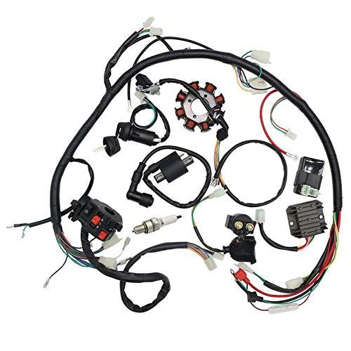 Kit completo di cablaggio elettrico, bobina di accensione per moto da cross cinese, ATV, quad 150 - 250 300