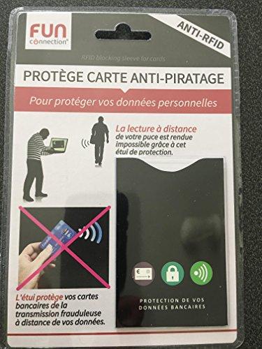 1 étui de protection de carte bancaire contre toute utilisation frauduleuse en paiement sans contact - anti piratage