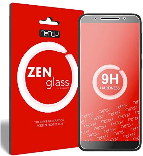 nandu I ZenGlass Flexible Glas-Folie für Alcatel 3V Panzerfolie I Bildschirm-Schutzfolie 9H I (Kleiner Als Das Gewölbte Bildschirm)