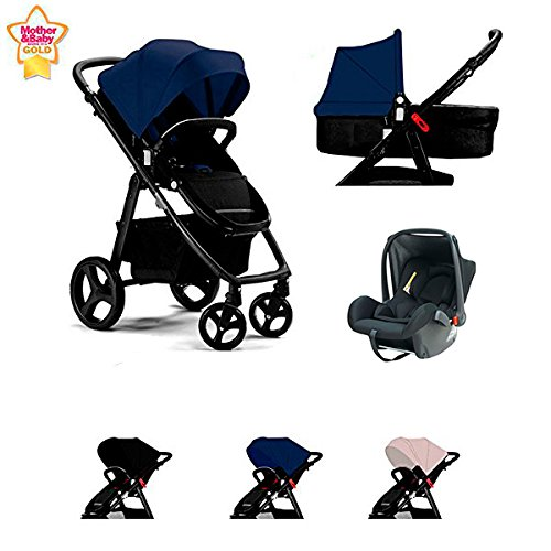 Star Ibaby One Cochecito de Bebe 3 Piezas. Color Black/Grey