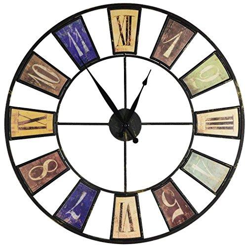 Sonderpreis! Moderne design Wohnzimmer Wanduhr groß mit Quarz-Uhrwerk XXL Ø60cm ausgefallene vintage Uhr